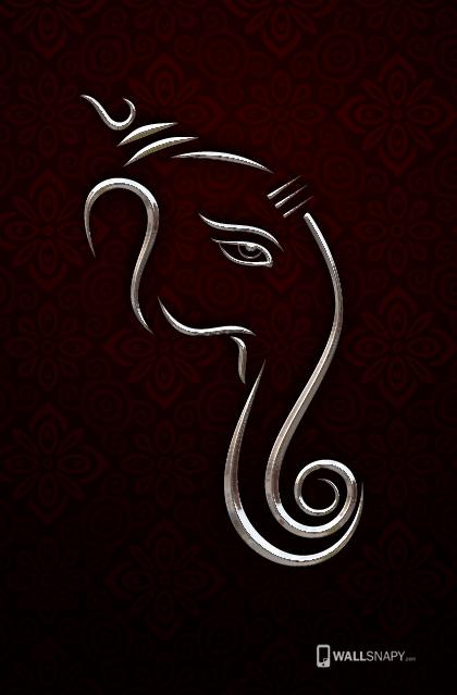 3d Ganesha Silver Hd Wallpa Wallsnapy