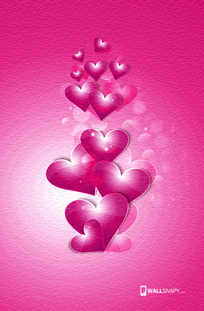Love Wallpaper Mobile Size : 3d heart love mobile hd wallpaper Primium mobile ...