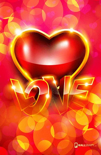 3d I Love U Hearten Hd Wallpaper For Mobile Wallsnapy