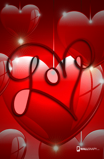 3d love background for mobile