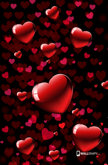 3d love heart red images full hd wallpaper Primium mobile wallpapers - Wallsnapy.com
