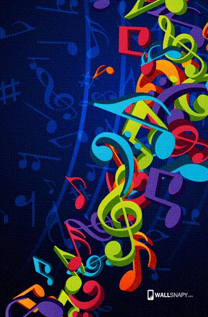 Portrait Wallpaper 3d Music Symbol Hd Images