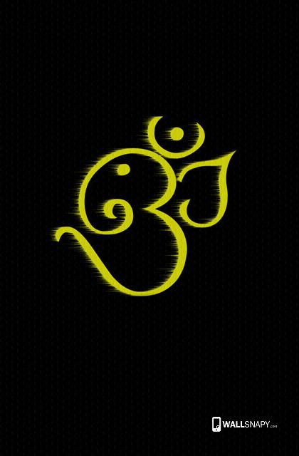 3d Om With Ganesha Symbol Hd Wallpaper Wallsnapycom