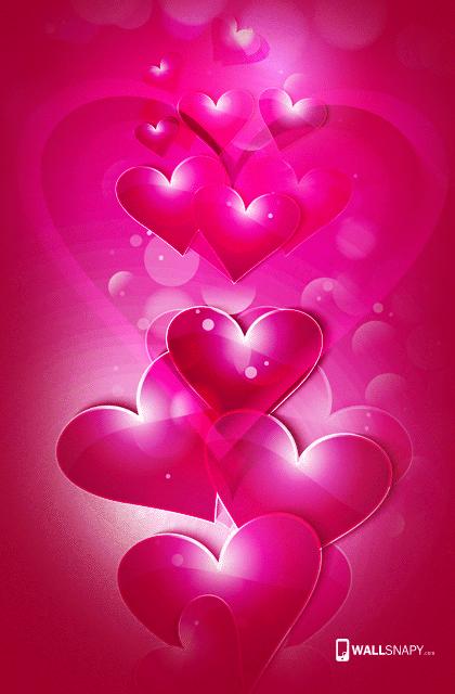 3d Rose Heart Hd Wallpaper For Mobile