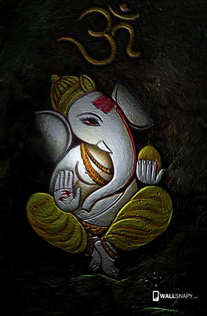 3d Vinayagar Painting Hd Wallpaper Primium Mobile Wallpapers