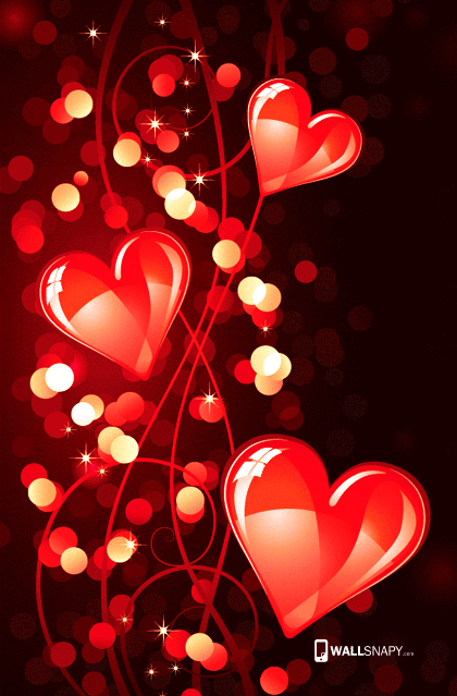 Android 3d love heart hd wallpaper