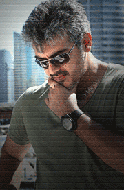 arrambam-ajith-green-t-shirt