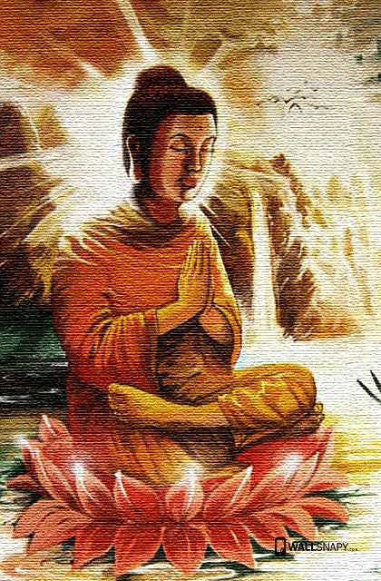 Beautiful Buddha Painting Hd Wallpaper For Mobile Phone