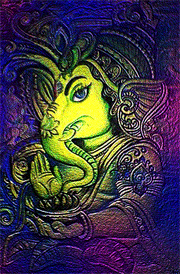 beautiful-oil-painting-for-ganesha