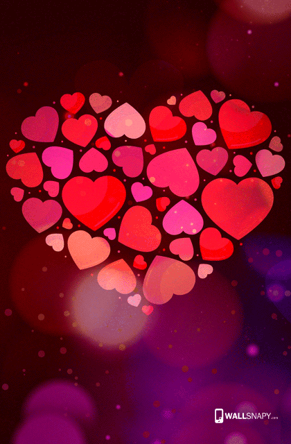 Colorful Love Hd Wallpaper For Mobile Phone