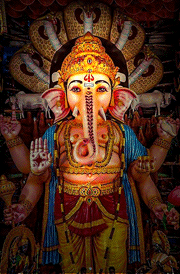 ganesha-with-five-face-snake-hd-wallpaper