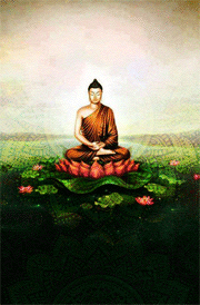 gautam-buddha-floral-hd-wallpaper