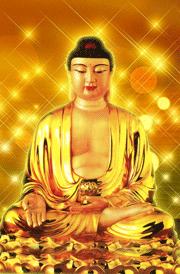 Gold budha statue