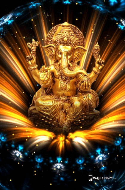 gold lord ganesh hd images for mobile primium mobile wallpapers