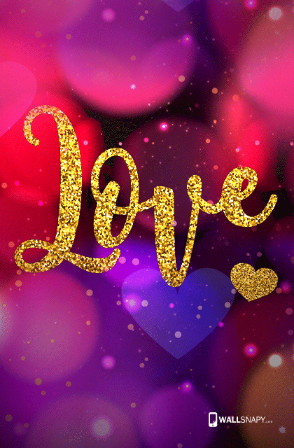 Gold Love Word Hd Images