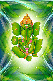 Green leaf ganapathi