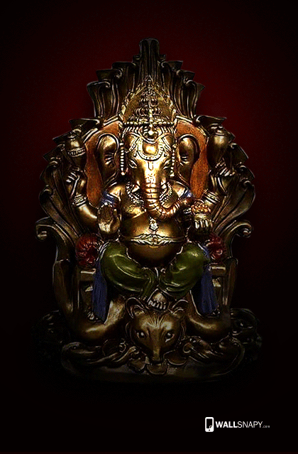 Hindusum Vinayagar Gold Statue Hd Wallpaper Wallsnapy Com