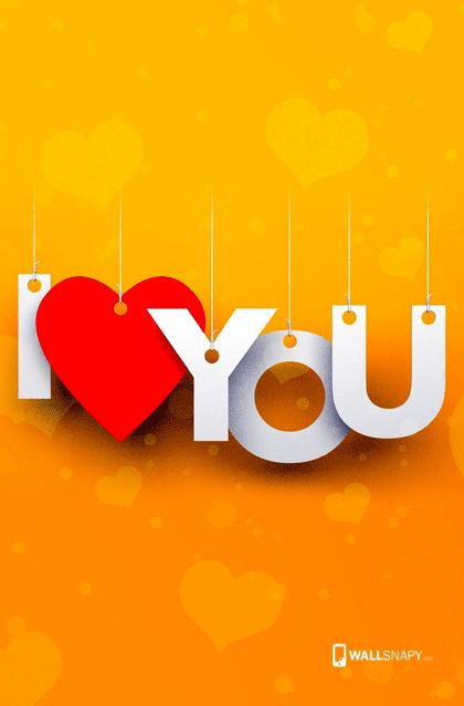 I Love U Letter With Hearten Hd Wallpaper Wallsnapy