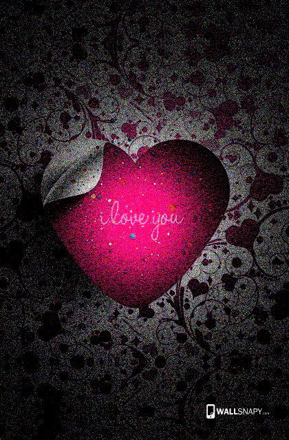 I Love You Animated Wallpaper For Mobile : I love you heart hd wallpaper mobile Primium mobile wallpapers - Wallsnapy.com