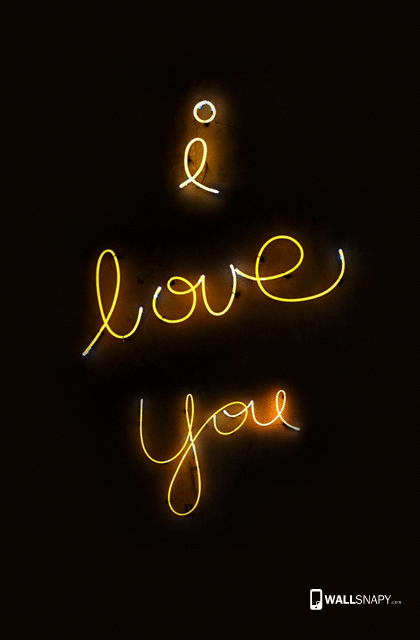 I Love You Nion Lamp Hd Wallpaper For Mobile Wallsnapy