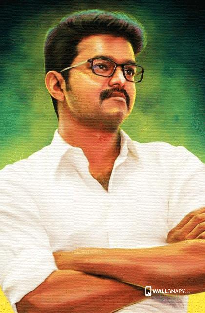 ilayathalapathy vijay white shirt hd wallpapers primium
