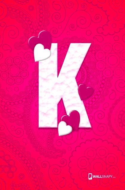 K letter hearten design hd wallpaper primium mobile wallpapers k letter hearten design hd wallpaper thecheapjerseys Image collections