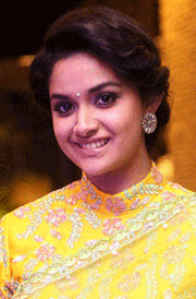 keerthy-suresh-yellow-saree-hd-wallpaper