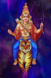 latest-aiyappan-with-tiger-hd-wallpaper