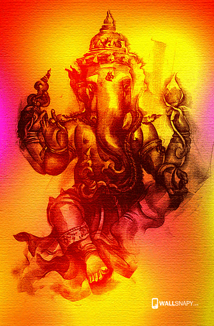 Lord Ganesh Ji Hd Painting Images Wallsnapy