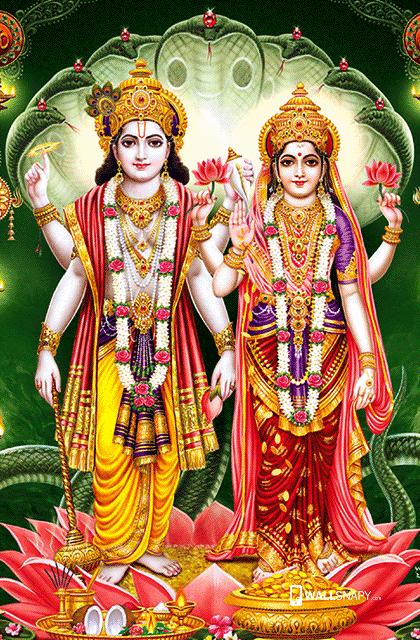Lord Vishnu With Mahalakshmi Hd Wallaper Wallsnapy