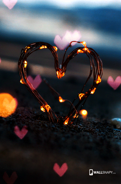 Love Heart Lamp Hd Wallpaper For Mobile Wallsnapy