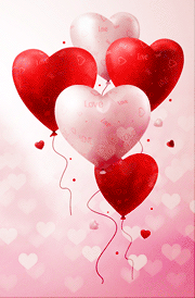 3d red hearten picture for mobile