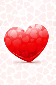lovely-red-hearten-white-background