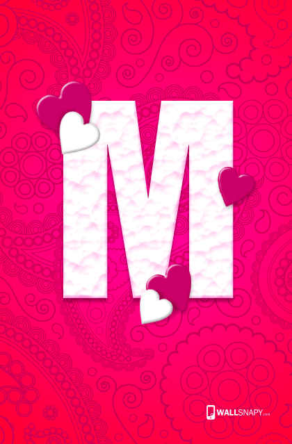 M letter hearten design hd wallpaper wallsnapy - M letter wallpapers mobile ...