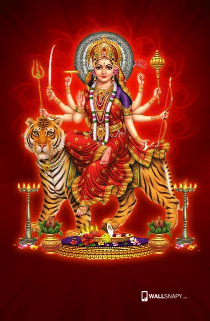 Maa Durga Devi Hd Wallpaper Wallsnapy