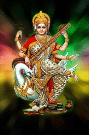 maa-sarashwathi-with-swan-hd-wallpaper