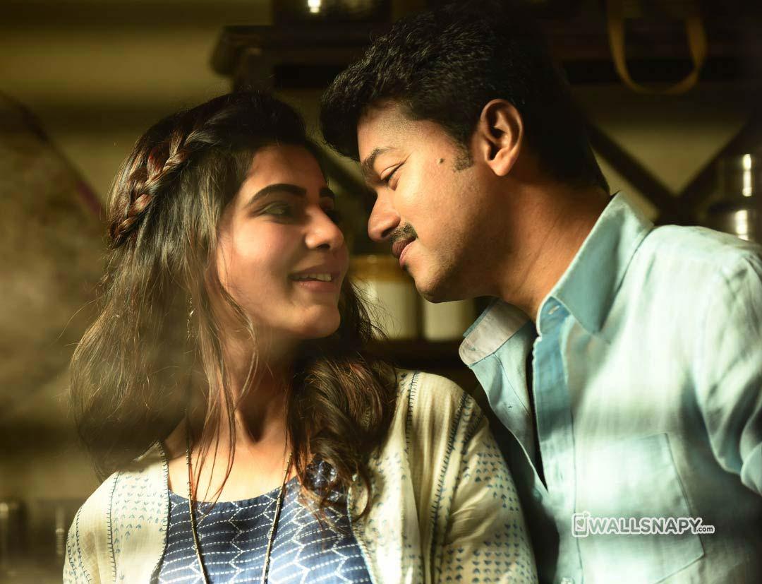 Mersal Samantha Vijay Romance Images Wallsnapy