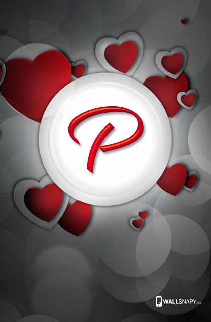P Letter Images In Heart Download Wallsnapy