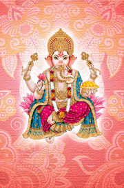 Pink floral ganapathi