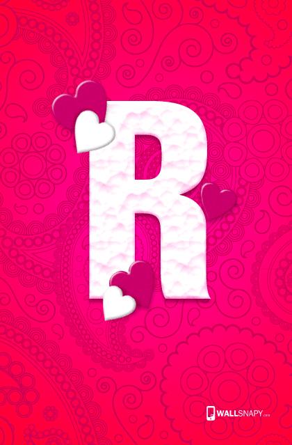 R Letter Hearten Design Hd Wallpaper Wallsnapy Com