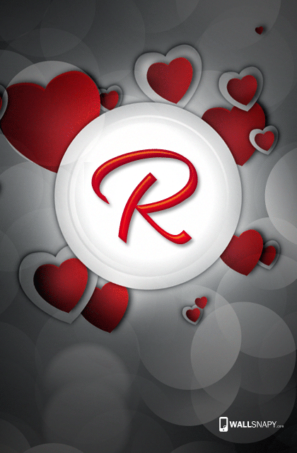 R letter images in heart wallpaper - Wallsnapy
