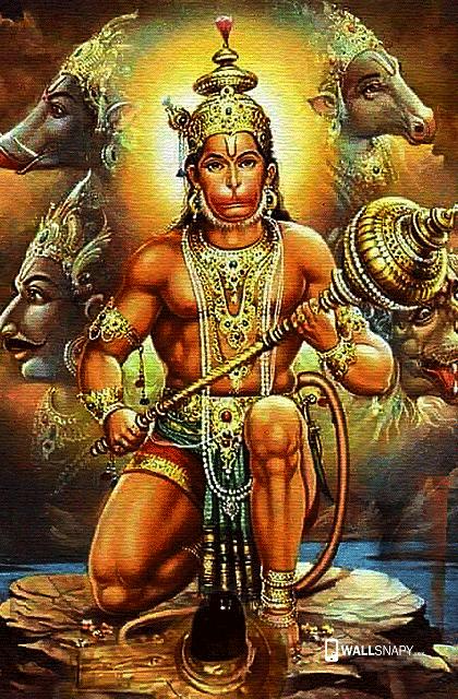 Hindu God Jai Hanuman Hd Wallpaper Anjaneya Photos High Quality Primium Mobile Wallpapers