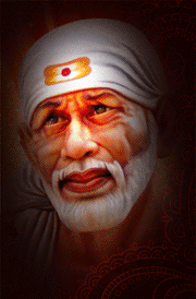 Red Full Moon Wallpaper Hindu god shirdi saiba...