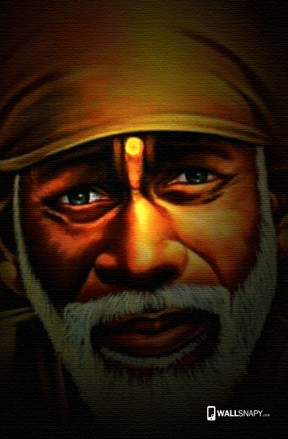 Shirdi Sai Baba Face Hd Wallpaper Wallsnapycom
