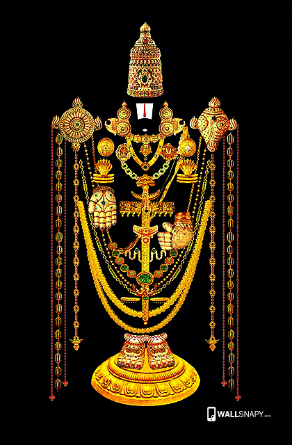 Tirupati balaji gold jewels hd wallpaper for mobile