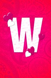 w-letter-hearten-design-hd-wallpaper