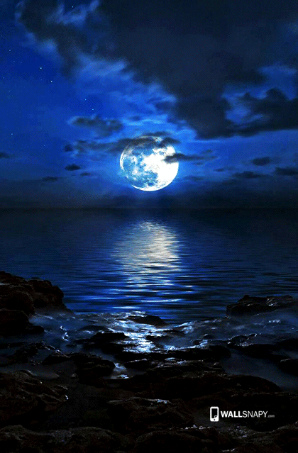 Wonderful Moon Sceneries With Water Hd Wallpaper Primium Mobile