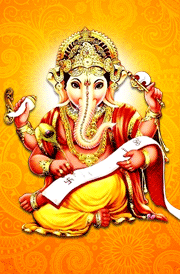 writing-vinayagar-with-book-hd-wallpaper