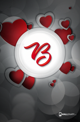 3d Images Of Alphabet B In Heart Wallsnapy