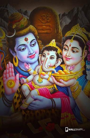 Baby Ganesha With Shiva Parwathi Hd Images Wallsnapy